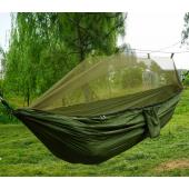 Hamak turystyczny z moskitierą Olive Green