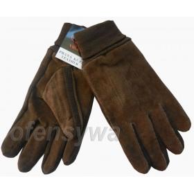 Rękawiczki zimowe klasyczne  - brąz