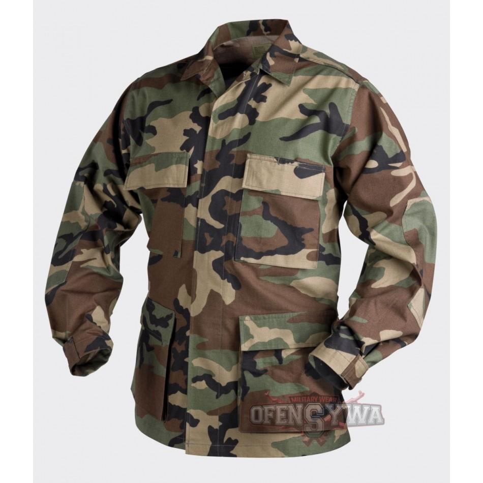 6e54fc33992 Bluza BDU PolyCotton 60 40 Ripstop Woodland US