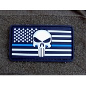 Emblemat PVC 3D Punisher US - biały
