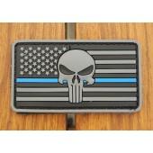 Emblemat PVC 3D Punisher US - szary