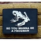 Emblemat PVC 3D Frogman - czarny