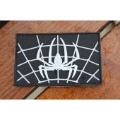 Emblemat PVC pająk - czarny