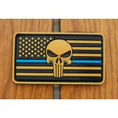 Emblemat PVC 3D Punisher US - coyote