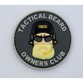 Emblemat 3D PVC Tactical Beard -szary