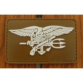 Emblemat 3D PVC Navy Seals - coyote