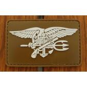 Emblemat 3D PVC Navy Seals - coyote