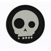 Emblemat PVC Skull czarny 3D