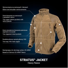 Polar Stratus Helikon Heavy Fleece- Czarny 320 g