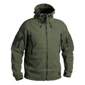 POLAR PATRIOT FLEECE JACKET - Oliv Green 390 g + komin gratis