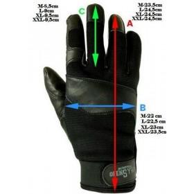 Rękawice skórzane taktyczne-uniwersalne -czarny