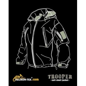 Kurtka Helikon SoftShell Jacket Trooper Czarny