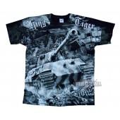 T-shirt z nadrukiem KING TIGER czarny