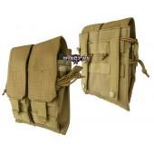 Podwójna ładownica  M4/M16/AK74 coyote/TAN