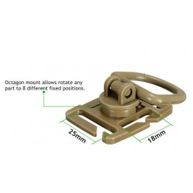 Uchwyt Molle D-ring olive 2 szt