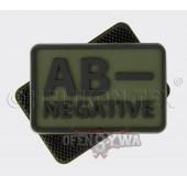 Emblemat Grupa Krwi kpl. PVC oliv green 2 szt.